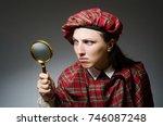 woman wearing traditional... | Shutterstock . vector #746087248