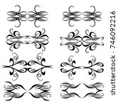 set of vector graphic elements ... | Shutterstock .eps vector #746092216