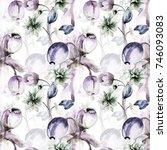 seamless wallpaper with...   Shutterstock . vector #746093083