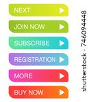 vector colorful buttons with... | Shutterstock .eps vector #746094448