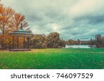 autumn color of regents park in ... | Shutterstock . vector #746097529