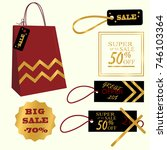 collection of sale discount.... | Shutterstock .eps vector #746103364