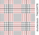 checkered hounds tooth and zig...   Shutterstock .eps vector #746104978