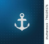 anchor icon.   Shutterstock .eps vector #746105176