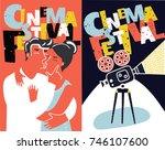 vector cartoon collection of... | Shutterstock .eps vector #746107600