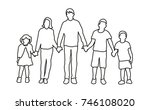sketch of children  | Shutterstock . vector #746108020