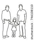 contour  sketch family  | Shutterstock . vector #746108110