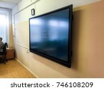 tv screen wall big flat screen. ... | Shutterstock . vector #746108209