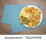 korean food  assorted pancakes     Shutterstock . vector #746109598