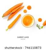 creative layout made of carrot... | Shutterstock . vector #746110873