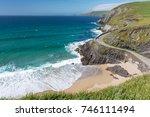 beautiful beach between slea...   Shutterstock . vector #746111494