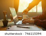 project managers meeting... | Shutterstock . vector #746115394