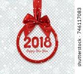 happy new year 2018 design.... | Shutterstock .eps vector #746117083