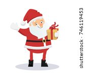 cartoon santa claus with... | Shutterstock .eps vector #746119453