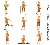 Set Of Archaeologist Character...