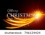 merry christmas and happy new... | Shutterstock .eps vector #746124424