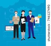 teamwork banners set with... | Shutterstock .eps vector #746127490