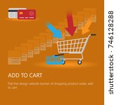 shopping cart icon vector with...
