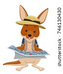 Illustration Of A Kangaroo...