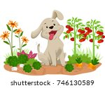 Illustration Of A Happy Dog In...