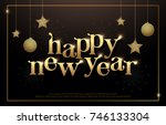 happy new year typography... | Shutterstock .eps vector #746133304