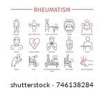 rheumatism symptoms  treatment. ... | Shutterstock . vector #746138284