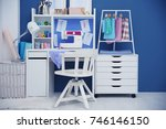 modern tailor's workshop | Shutterstock . vector #746146150