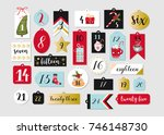 abstract printable tags... | Shutterstock .eps vector #746148730