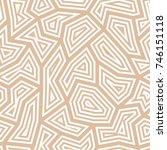 polygonal seamless background.... | Shutterstock .eps vector #746151118