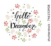 vector christmas greeting card... | Shutterstock .eps vector #746153908