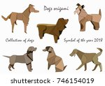 collection of dogs in the style ... | Shutterstock .eps vector #746154019