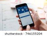 chiang mai  thailand   july 30  ... | Shutterstock . vector #746155204