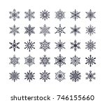 cute snowflakes collection... | Shutterstock .eps vector #746155660