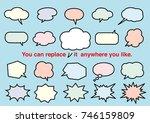 color speech balloon set ... | Shutterstock .eps vector #746159809