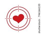 heart and target. love heart.    Shutterstock .eps vector #746166133