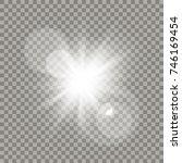 white lens flare effect.... | Shutterstock .eps vector #746169454