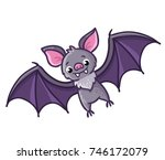 bat on a white background.... | Shutterstock .eps vector #746172079