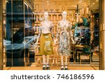 female mannequins with luxury... | Shutterstock . vector #746186596