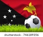 papua new guinea flag and... | Shutterstock .eps vector #746189356