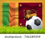 sri lanka flag and soccer ball | Shutterstock .eps vector #746189359