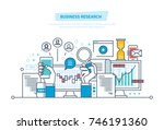 business research. business... | Shutterstock .eps vector #746191360