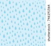 vector light blue water drops... | Shutterstock .eps vector #746191564