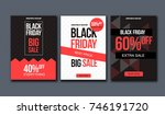 black friday sale design... | Shutterstock .eps vector #746191720