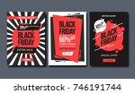 black friday sale design... | Shutterstock .eps vector #746191744