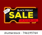 black friday sale labels with... | Shutterstock .eps vector #746195764