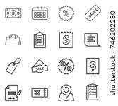 thin line icon set   money ... | Shutterstock .eps vector #746202280