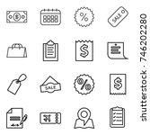 thin line icon set   money ... | Shutterstock .eps vector #746202280