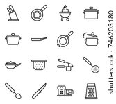 thin line icon set   stands for ... | Shutterstock .eps vector #746203180