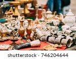 tbilisi  georgia. shop flea... | Shutterstock . vector #746204644