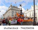 london  uk   october 8  2017  ... | Shutterstock . vector #746206036